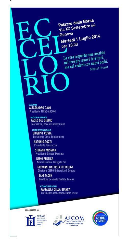 ECCELLORIO – Convengo sull'economia ligure, 1° luglio 2014