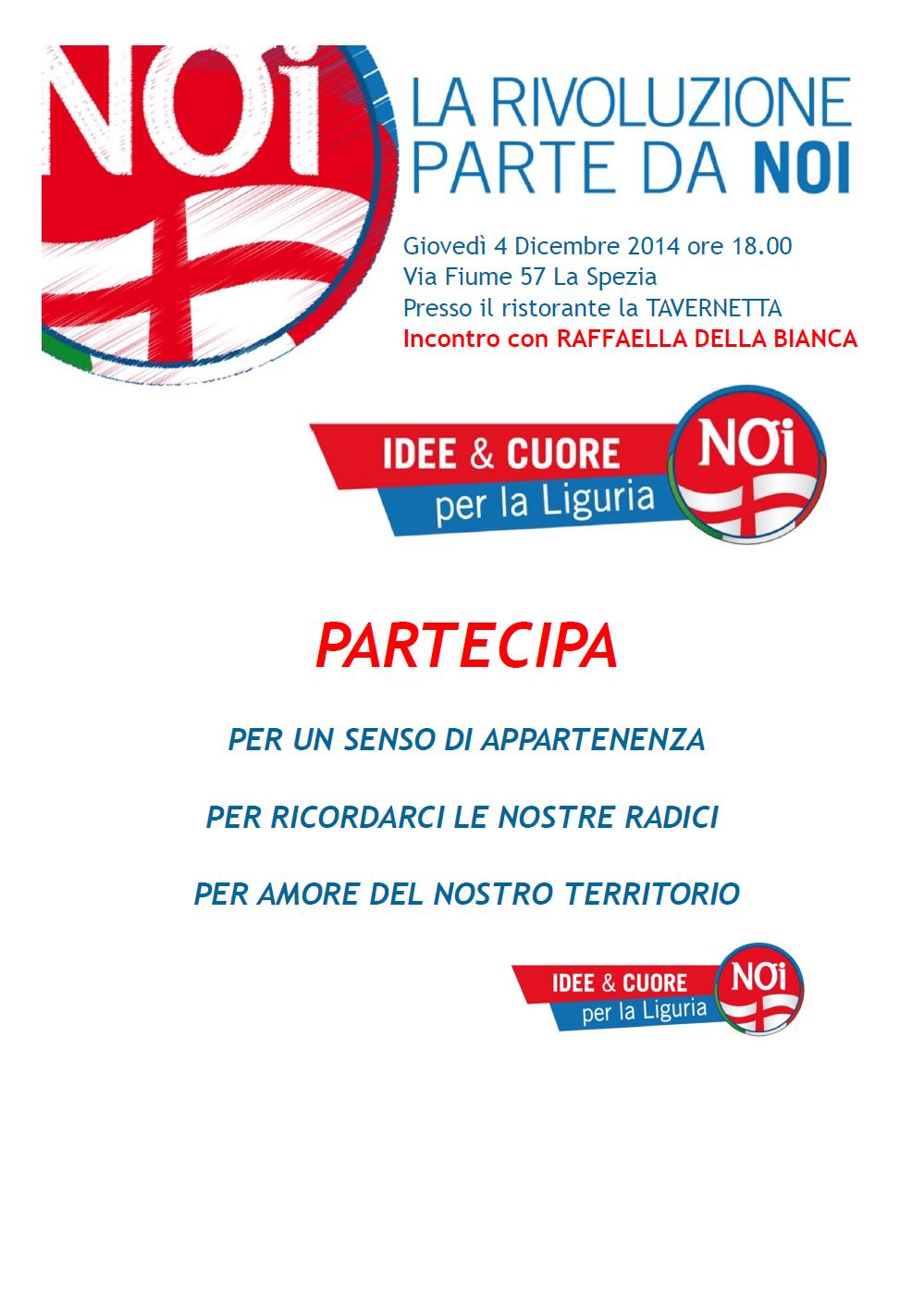 Comunicato stampa su incontro pubblico a La Spezia